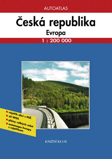 Autoatlas Česká republika, Evropa 1:200 000 (hlavní nabídka)