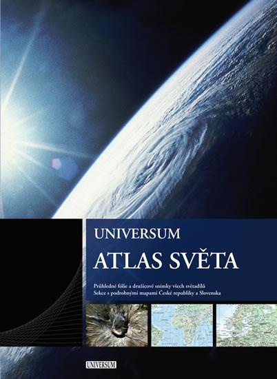 Atlas světa Universum - Průhledné fólie a družicové snímky všech světadílů