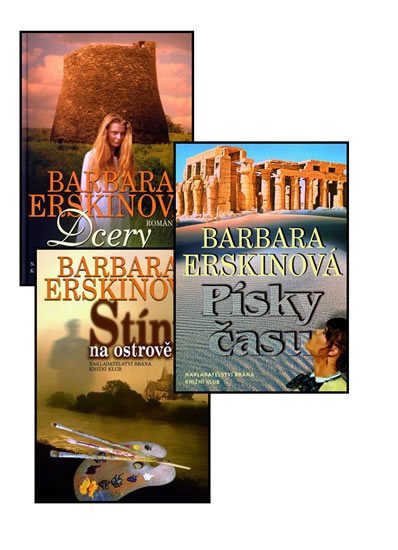 Komplet 3 x Erskinová (Dcery ohně + Stíny na ostrově + Písky času)
