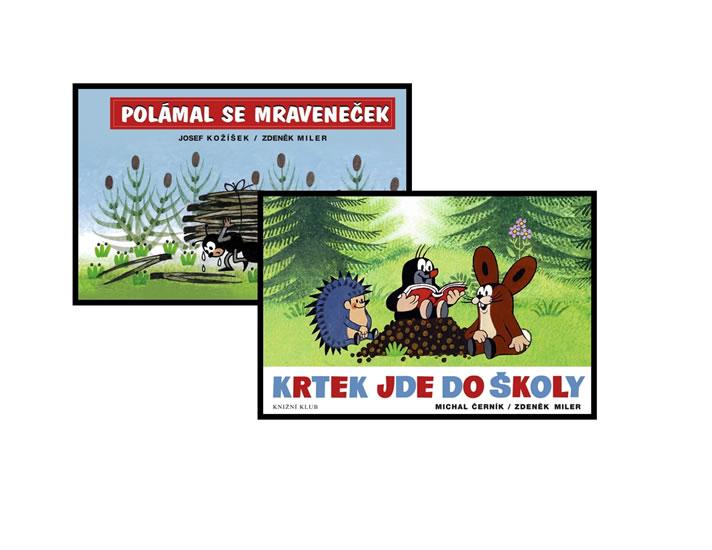 Komplet Krtek jde do školy - 2. vydání + Polámal se mraveneček - 2. vydání