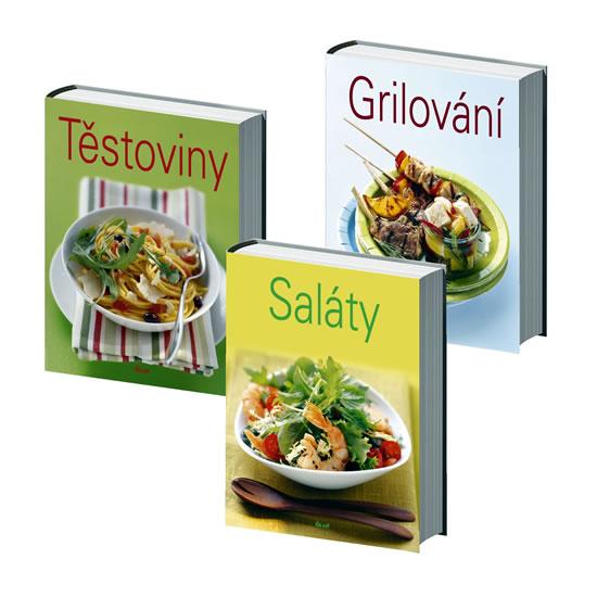 Komplet Grilování - 2. vydání + Těstoviny - 2. vydání + Saláty - 2. vydání