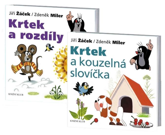Komplet Krtek a jeho svět 8 - Krtek a rozdíly+Krtek a jeho svět 7 - Krtek a slovíčka