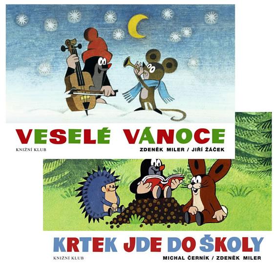Komplet Veselé Vánoce - 2. vydání+Krtek jde do školy - 2. vydání