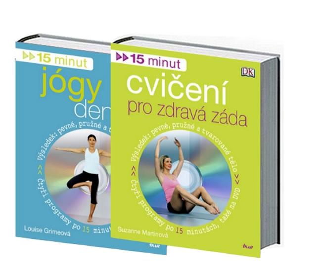 Komplet 15 minut cvičení pro zdravá záda + DVD+15 minut jógy denně + DVD