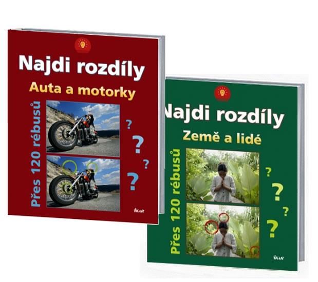 Komplet Najdi rozdíly: Auta a motorky+Najdi rozdíly: Země a lidé