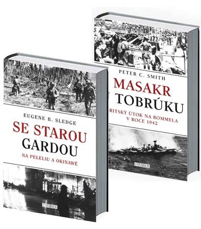 Komplet Se starou gardou: Na Peleliu a Okinawě + Masakr u Tobrúku