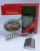 Detail titulu Těstoviny - sada (kniha, struhadlo na parmazán, kleště na těstoviny v krabici)
