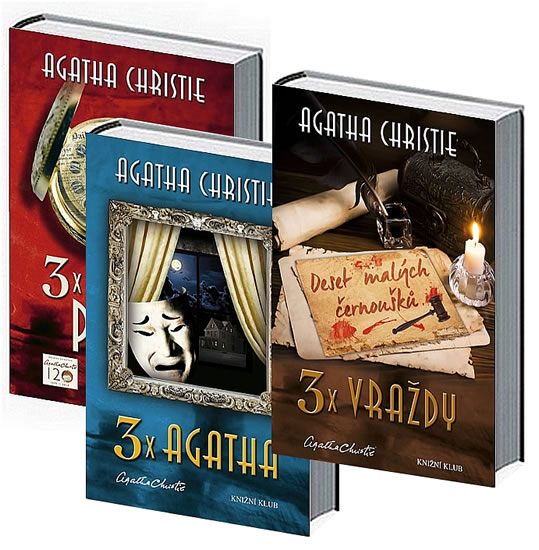 Komplet 3x vraždy + 3x Agatha + 3x Hercule Poirot