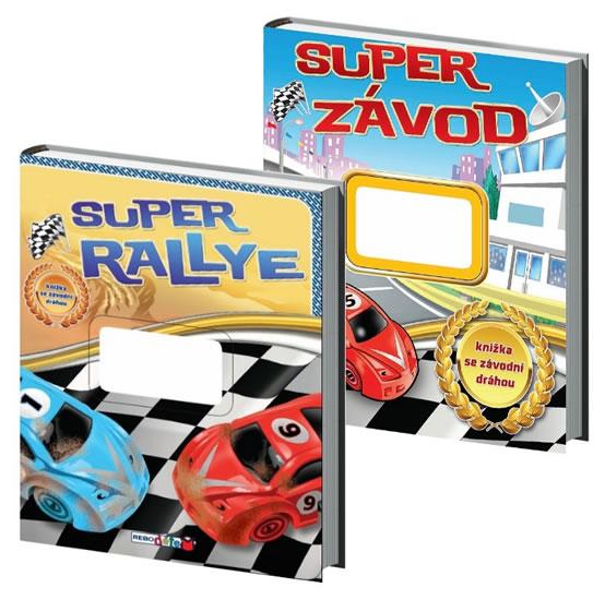 Kompet Super rallye - knížka se závodní dráhou + Super závod - knížka se závodní dráhou