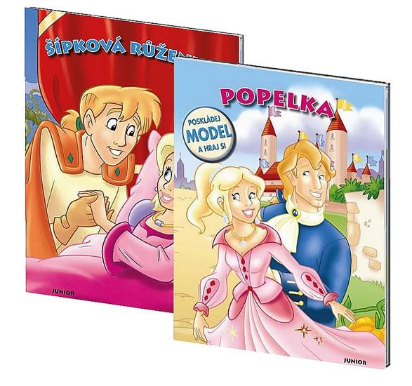 Komplet Šípková Růženka - Poskládej model a hraj + Popelka - Poskládej model a hraj si!