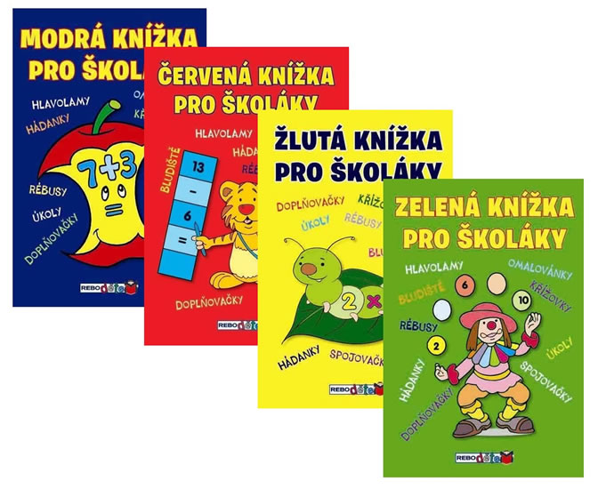 Komplet Červená knížka pro školáky - 5. vydání + Žlutá knížka pro školáky - 4. vydání + Zelená knížka pro školáky - 4. vydání + Modrá knížka pro školáky  - 4. vydání