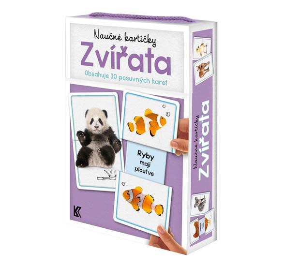 Naučné kartičky: Zvířata (Obsahuje 30 posuvných karet)