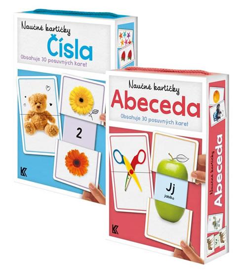 Komplet Naučné kartičky: Abeceda + Naučné kartičky: Čísla