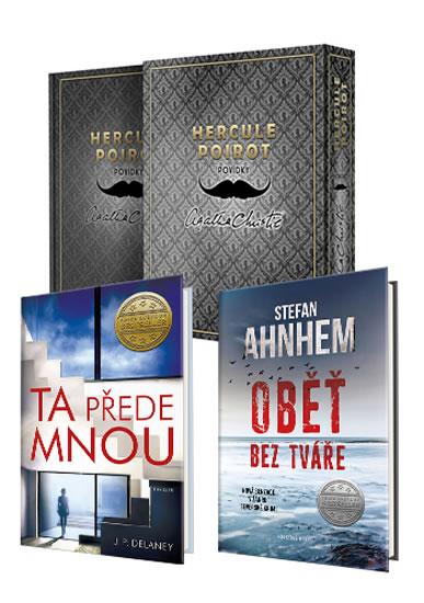 Komplet Fabian Risk 1: Oběť bez tváře + Hercule Poirot: Povídky + Ta přede mnou