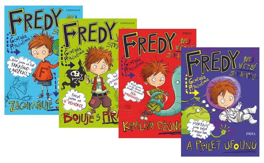 Komplet Fredy. Největší strašpytel zachraňuje... + Fredy 2. Největší strašpytel bojuje s... +  Fredy 3. Největší strašpytel králem... +  Fredy 4. Největší strašpytel a přílet...
