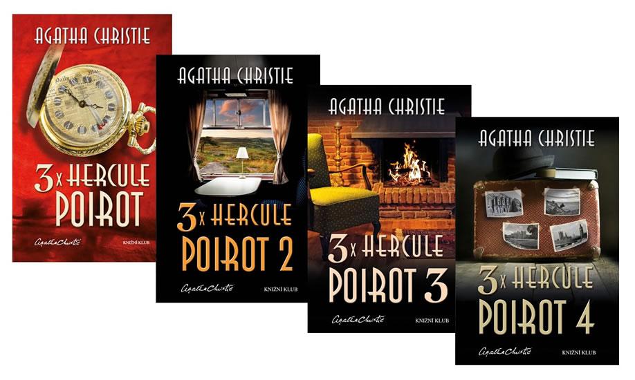 Komplet 3x Hercule Poirot 1 + 2 + 3 + 4