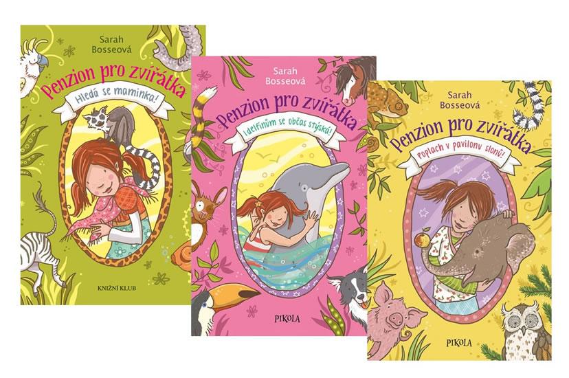 Komplet Penzion pro zvířátka 1: Hledá se maminka! + Penzion pro zvířátka 2: I delfínům se občas stýská +  Penzion pro zvířátka 3: Pozdvižení v pavilonu slonů