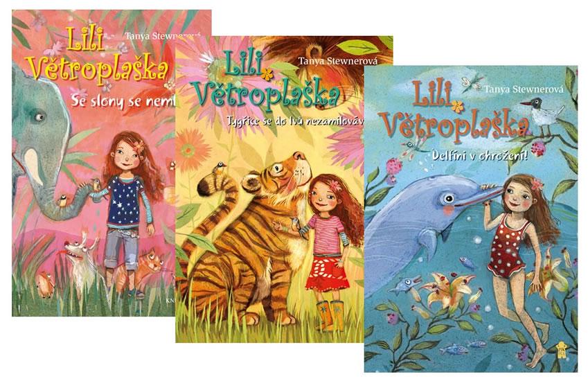 Komplet Lili Větroplaška 1: Se slony se nemluví! + Lili Větroplaška 2: Tygřice se do lvů... +  Lili Větroplaška 3: Delfíni v ohrožení!