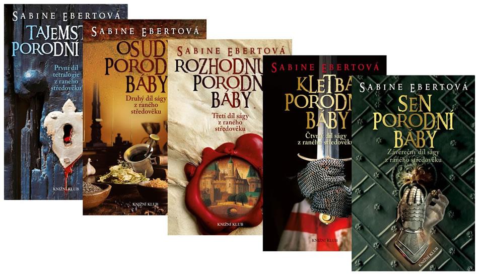 Komplet Tajemství porodní báby 1 + Osudy porodní báby 2 + Rozhodnutí porodní báby 3 +  Kletba porodní báby 4 +  Sen porodní báby 5