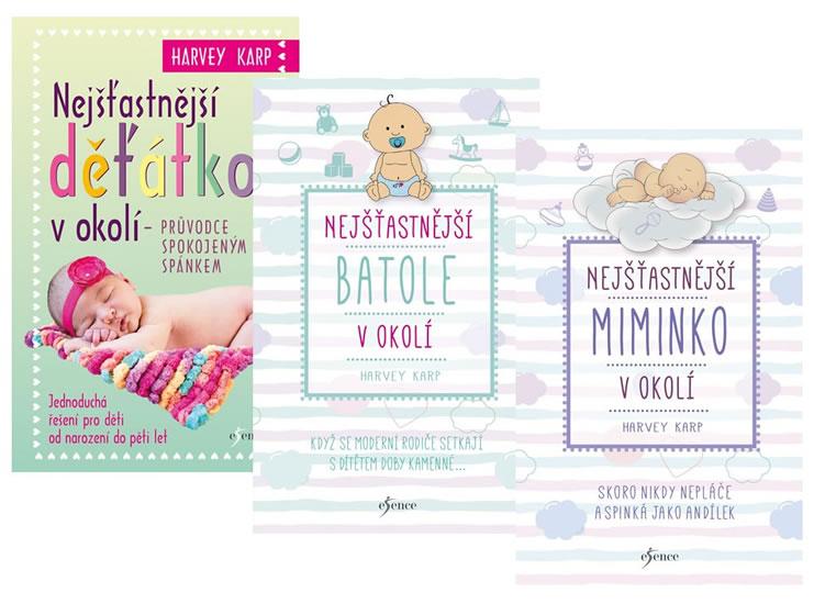Komplet Nejšťastnější miminko v okolí + Nejšťastnější batole v okolí + Nejšťastnější děťátko v okolí
