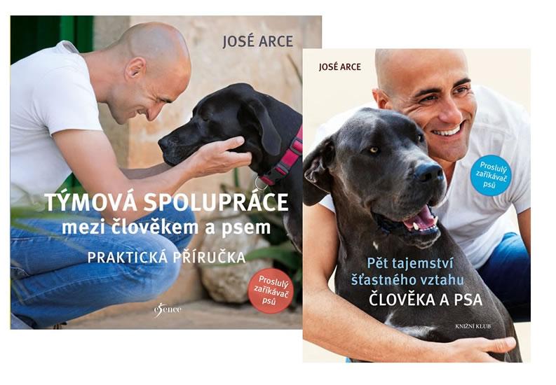 Komplet Pět tajemství šťastného vztahu člověka.. + Týmová spolupráce mezi člověkem a psem