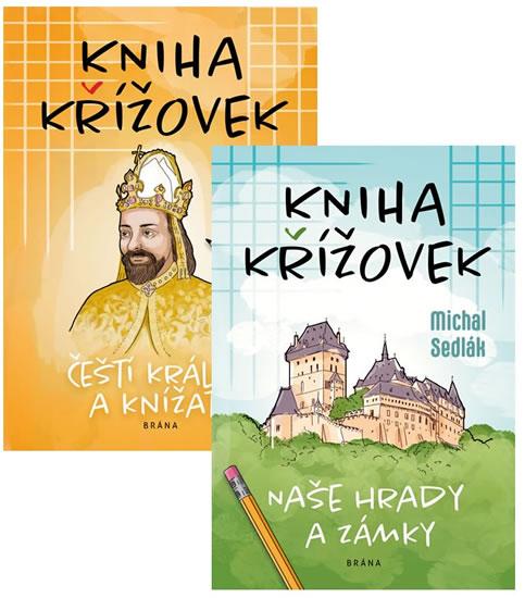 Komplet Kniha křížovek - Naše hrady a zámky + Kniha křížovek - Čeští králové...