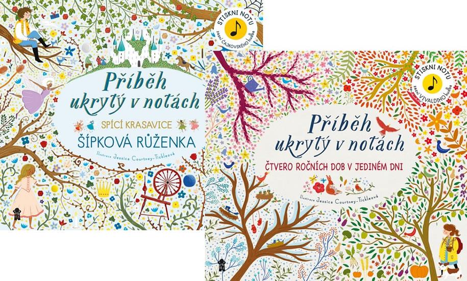 Komplet Příběh ukrytý v notách: Šípková Růženka + Příběh ukrytý v notách: Čtvero ročních dob v jediném dni