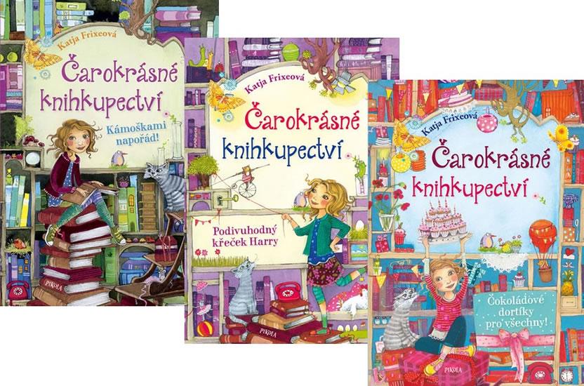 Komplet Čarokrásné knihkupectví 3: Čokoládové dortíky pro všechny! + Čarokrásné knihkupectví 2: Podivuhodný křeček Harry + Čarokrásné knihkupectví 1: Kámoškami napořád!