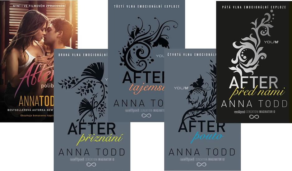 Komplet After 1: Polibek – 2. vydání + After 2: Přiznání + After 3: Tajemství + After 4: Pouto + After 5: Před námi