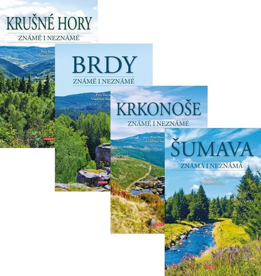 Komplet Krkonoše známé i neznámé + Brdy známé i neznámé + Šumava + Krušné hory známé i neznámé