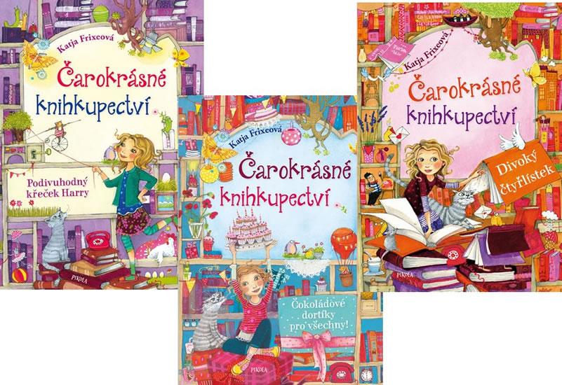 Komplet Čarokrásné knihkupectví 2: Podivuhodný křeček Harry + Čarokrásné knihkupectví 3: Čokoládové dortíky pro všechny! + Čarokrásné knihkupectví 4: Divoký čtyřlístek