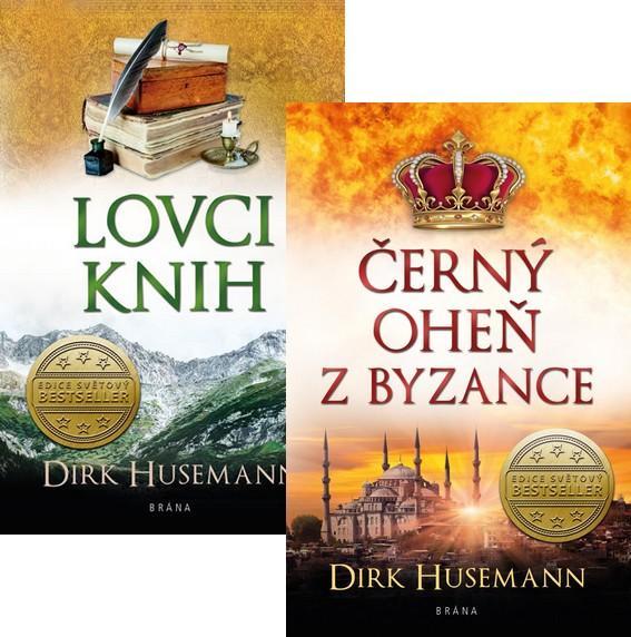 Komplet Černý oheň z Byzance + Lovci knih
