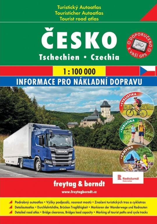 TURISTICKÝ AUTOATLAS ČESKO 1:100 000
