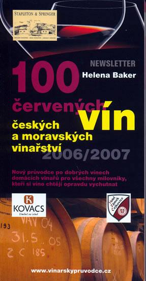 100 červených vín českých a moravských vinařství - Baker Helena