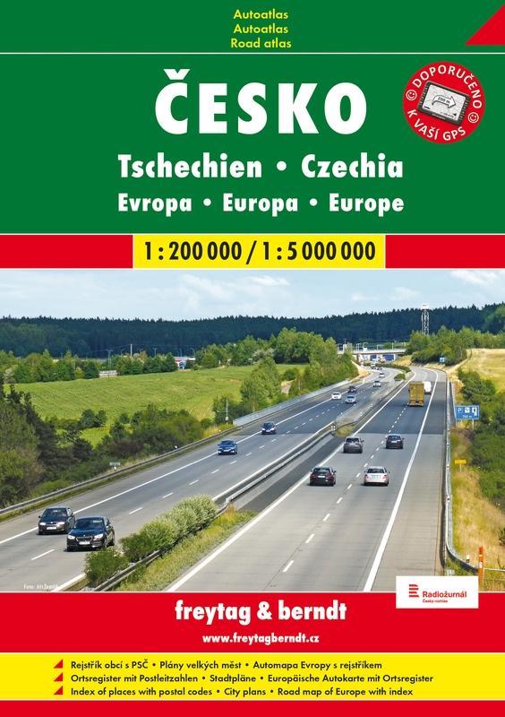 ČESKÁ REPUBLIKA AUTOATLAS + EVROPA  1:200 000