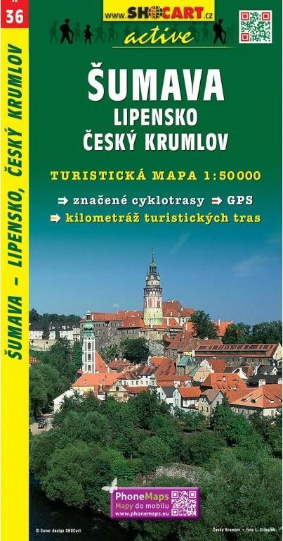 ŠUMAVA LIPENSKO ČESKÝ KRUMLOV TMČ.36 1-50000