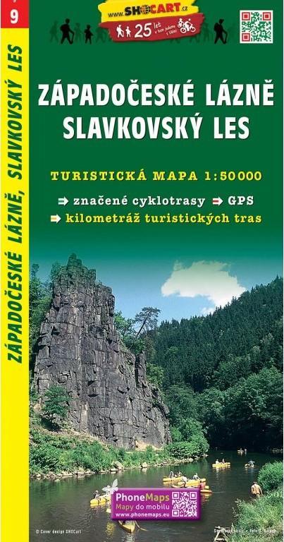 ZÁPADOČESKÉ LÁZNĚ SLAVKOVSKÝ LES TMČ.9 1-50000