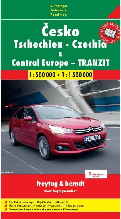 ČESKO A STŘEDNÍ EVROPA TRANZIT 1:500 000