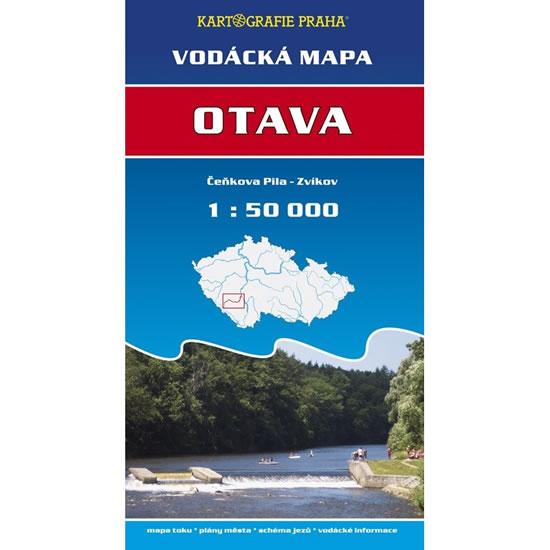 VODÁCKÁ MAPA - OTAVA, ČEŇKOVA PILA-ZVÍKOV