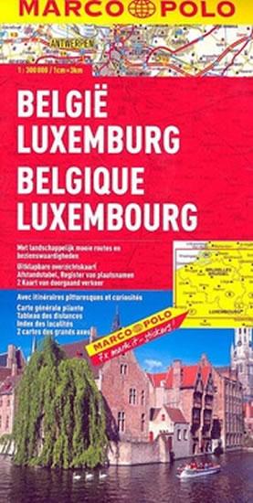 BELGIE-LUCEMBURSKO 1:300 000 MAPA MD