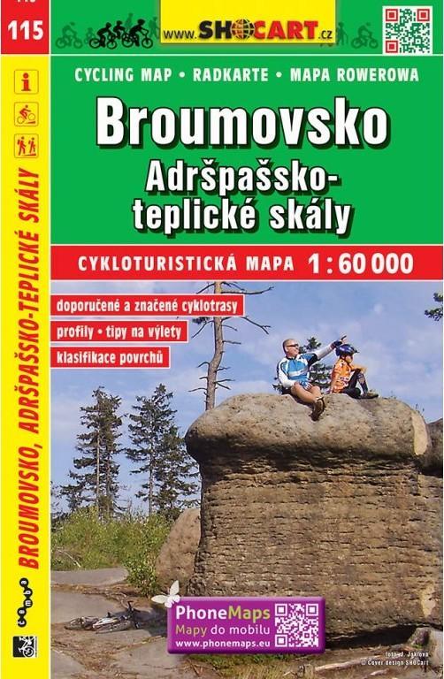 BROUMOVSKO 1:60 000 CYKLOMAPA /115/