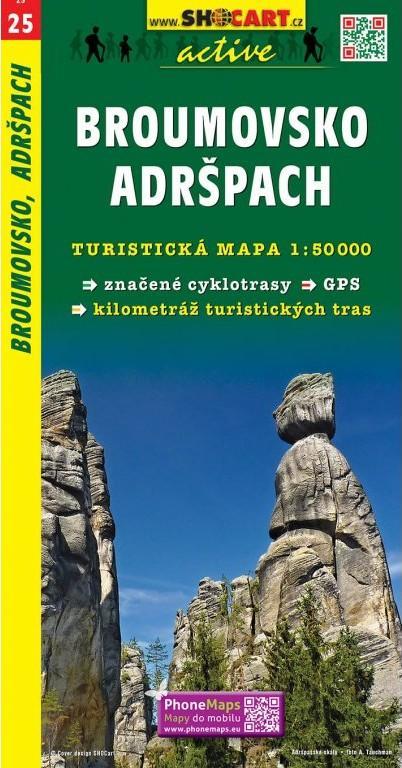 BROUMOVSKO ADRŠPACH TMČ. 25 1-50000