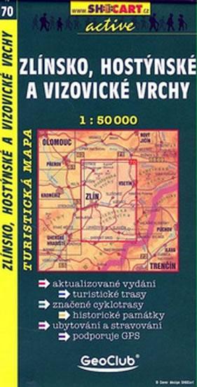 ZLÍNSKO,HOSTÝNSKÉ A VIZOVICKÉ VRCHY TMČ.70 1-50000