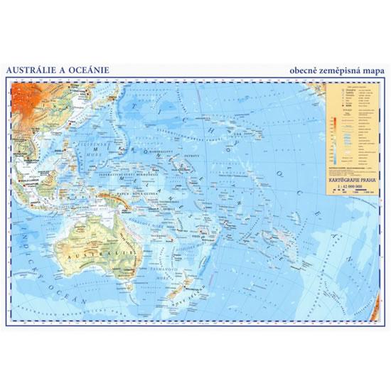 Austrálie a oceánie-A3 laminovaná