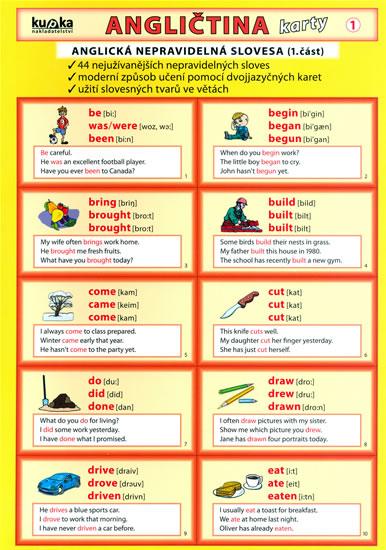 ANGLIČTINA KARTY 1