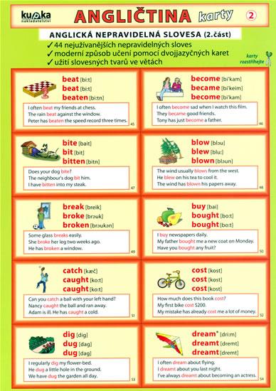 ANGLIČTINA KARTY 2