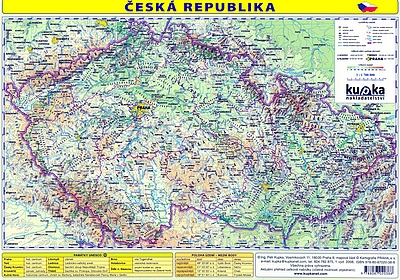 ČESKÁ REPUBLIKA MAPA PLAST