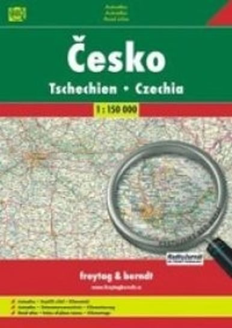 ČESKÁ REPUBLIKA 1:150 000,EVROPA 1:4000 000
