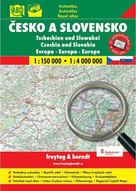 AUTOATLAS ČESKO A SLOVENSKO 1:150 000