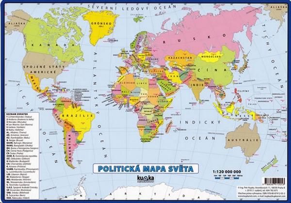 20 Politicka Mapa Sveta Petr A Kolektiv Kupka Knizniklub Cz
